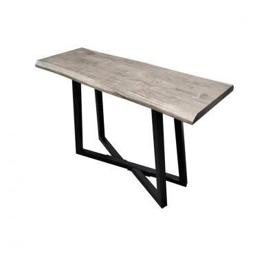 Konzolasztal szürke fa, 110x40 cm - EVORA